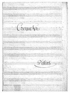 Croquefer: Cornets part by Jacques Offenbach