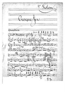 Croquefer: Violins I part by Jacques Offenbach