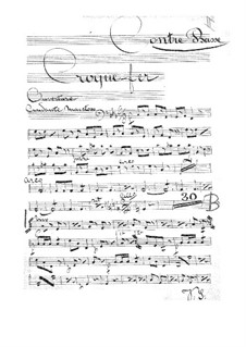 Croquefer: Double bass part by Jacques Offenbach