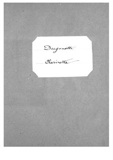 Dragonette: Clarinets part by Jacques Offenbach