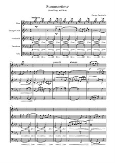 Summertime: For sextet by George Gershwin