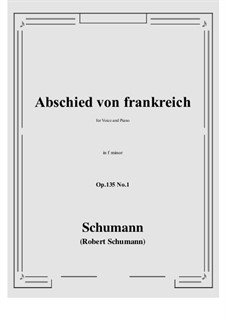 Poems of Queen Mary Stuart, Op.135: No.1 Abschied von frankreich (f minor) by Robert Schumann