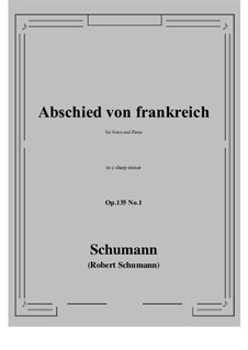 Poems of Queen Mary Stuart, Op.135: No.1 Abschied von frankreich (c sharp minor) by Robert Schumann