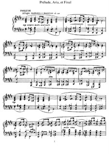 Prelude, Aria and Finale: For piano by César Franck