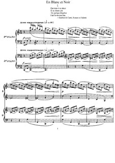 En blanc et noir (In Black and White), L.134: For two pianos four hands by Claude Debussy