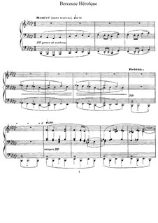 Berceuse héroïque, L.132: For piano by Claude Debussy
