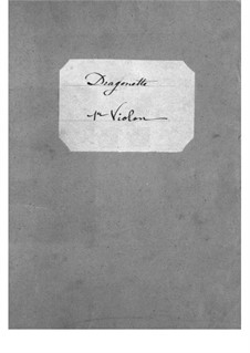 Dragonette: Violins I part by Jacques Offenbach