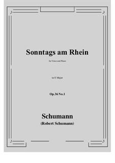 Six Poems, Op.36: No.1 Sunday on the Rhine (E Major) by Robert Schumann