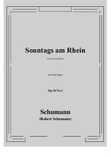 Six Poems, Op.36: No.1 Sunday on the Rhine (D flat Major) by Robert Schumann