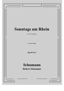 Six Poems, Op.36: No.1 Sunday on the Rhine (G flat Major) by Robert Schumann