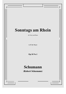Six Poems, Op.36: No.1 Sunday on the Rhine (B flat Major) by Robert Schumann