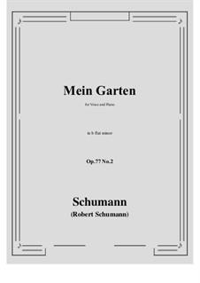 Songs and Romances, Op.77: No.2 Mein Garten (b flat minor) by Robert Schumann