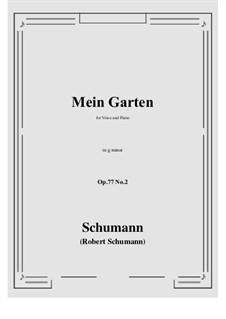Songs and Romances, Op.77: No.2 Mein Garten (g minor) by Robert Schumann
