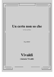Un certo non so che: G minor by Antonio Vivaldi