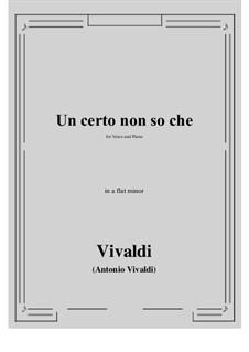Un certo non so che: A flat minor by Antonio Vivaldi