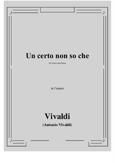 Un certo non so che: F minor by Antonio Vivaldi