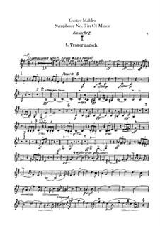 Symphony No.5 in C Sharp Minor: Clarinets parts by Gustav Mahler