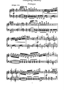 Fragments: Act 1, for piano by Pyotr Tchaikovsky
