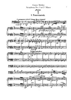 Symphony No.5 in C Sharp Minor: Double bass part by Gustav Mahler