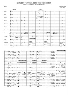 Concerto for Trumpet and Orchestra in E Flat Major, Hob.VIIe/1: Movement I by Joseph Haydn