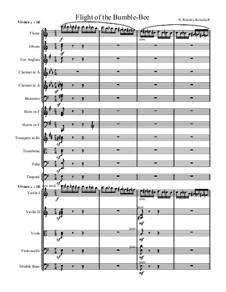 Flight of the Bumblebee: Full score by Nikolai Rimsky-Korsakov