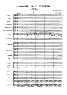 Симфония No.27: Симфония No.27 by Nikolai Myaskovsky