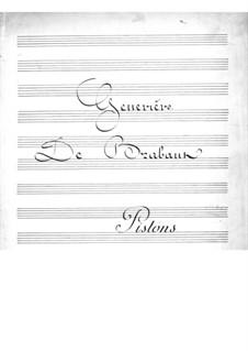 Geneviève de Brabant: Cornets Part by Jacques Offenbach
