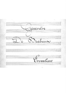 Geneviève de Brabant: Trombones part by Jacques Offenbach