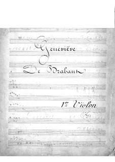 Geneviève de Brabant: Violins I part by Jacques Offenbach
