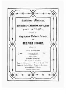 Récréations Musicales, Op.71: Suite No.2 by Henri Herz
