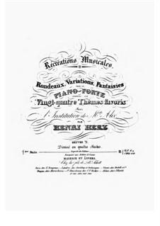 Récréations Musicales, Op.71: Suite No.4 by Henri Herz