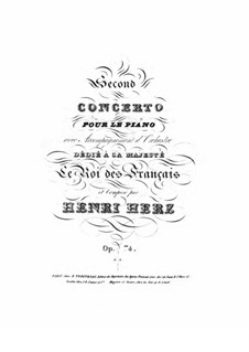 Piano Concerto No.2 in C Minor, Op.74: For piano by Henri Herz