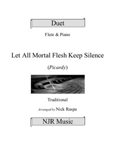 Let All Mortal Flesh Keep Silence: For flute and piano by folklore