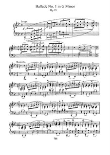 Ballade No.1 in G Minor, Op.23: For piano by Frédéric Chopin