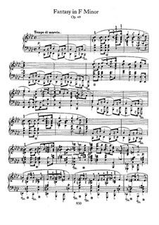 Fantasia in F Minor, Op.49: For piano by Frédéric Chopin