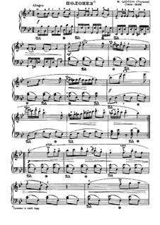 Polonaise in B Flat Major, B.3 KK IVa/1: For piano by Frédéric Chopin