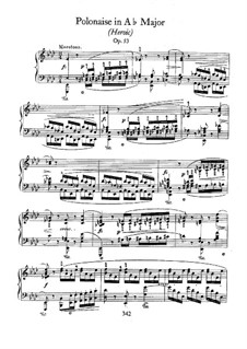 Polonaise in A Flat Major 'Heroic', Op.53: For piano by Frédéric Chopin