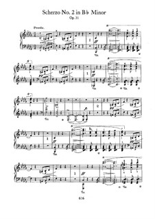 Scherzo No.2 in B Flat Minor, Op.31: For piano by Frédéric Chopin