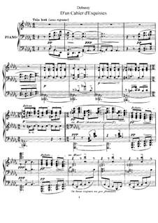 D'un cahier d'esquisses, L.99: For piano by Claude Debussy