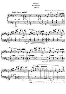 Estampes, L.100: For piano by Claude Debussy