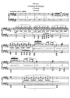 L'enfant prodigue (The Prodigal Son), L.57: For piano four hands by Claude Debussy