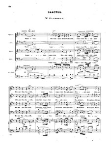 Mass in D Major, Op.10: No.13-18, for soloists, choir and piano by John Knowles Paine