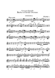 The Barber of Seville, R 1.64: Overture – violins parts by Giovanni Paisiello