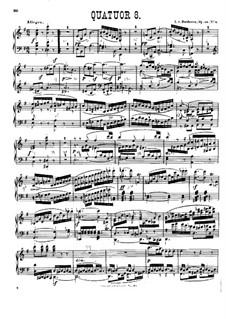 String Quartet No.8 in E Minor 'Rasumowsky-Quartet', Op.59 No.2: Version for piano by Ludwig van Beethoven