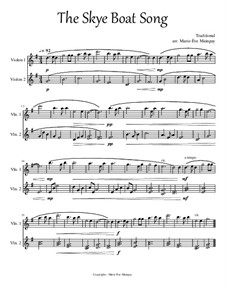 The Skye Boat Song: For two violins by folklore