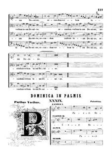 Pueri Hebraeorum: Vocal score by Giovanni da Palestrina