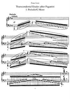 Grand Etudes de Paganini, S.141: Complete set by Franz Liszt