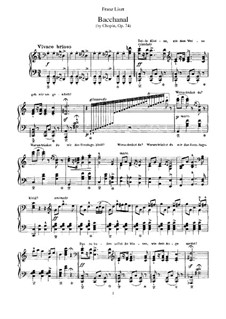 Six chants polonais. Transcriptions on Themes by Chopin, S.480: No.4 Merrymaking by Franz Liszt