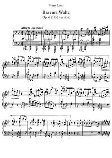 Grand Bravour-Waltz, S.209: For piano by Franz Liszt