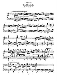 Six chants polonais. Transcriptions on Themes by Chopin, S.480: No.6 Narzeczony by Franz Liszt